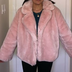 Victoria Secret faux fur pink coat